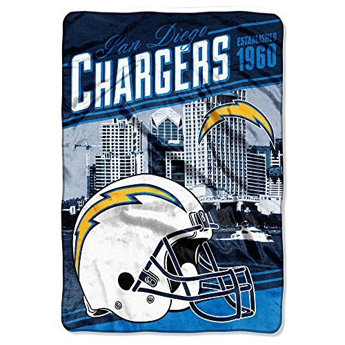 Northwest 076 San Diego Chargers NFL Stagger Oversized Micro Raschel (62in x 90in)