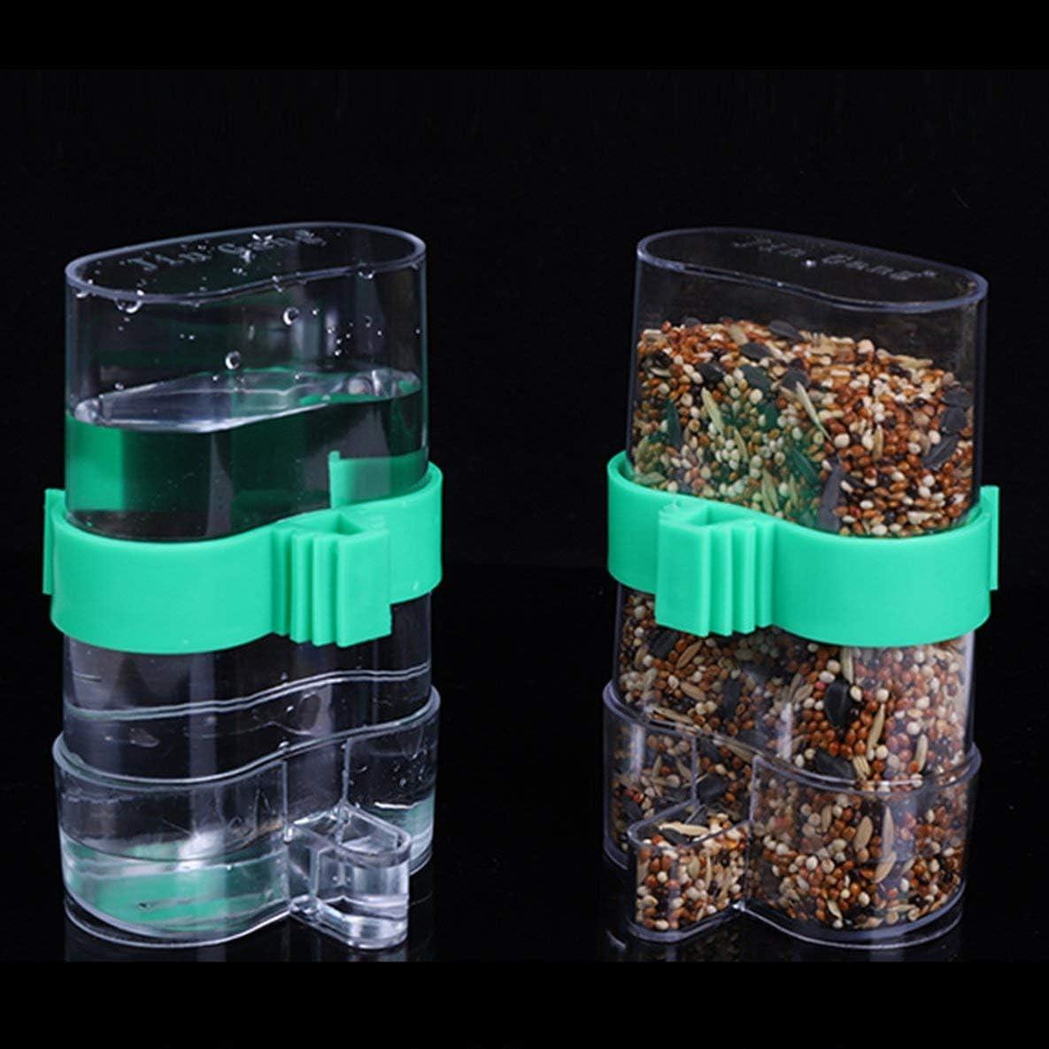 Moliies Trampa de Agua automática para pájaros Suministros para jaulas de pájaros Accesorios para jaulas de pájaros Fuente para Beber Utensilios para Loros/Verde y Claro