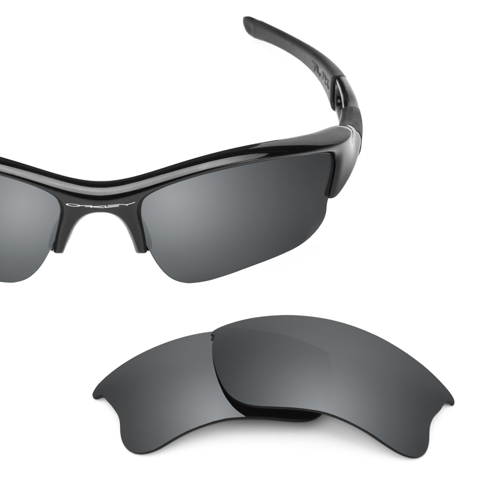 Revant Polarized Replacement Lenses for Oakley Flak Jacket XLJ Black Chrome MirrorShield by Revant