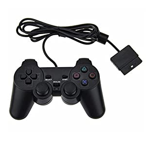 Finera Wired Controller Replacement Compatible with Sony PS2/Playstation2 Dual Shock Console Video Game