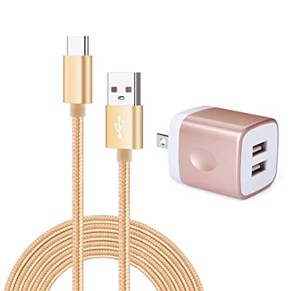 USB Wall Charger,Charging Block, Kakaly Mini Compact Wall Chargers with 1-Pack Fast Charge Sync USB C Cable Compatiable for Samsung Galaxy S10e S10 S9 ...