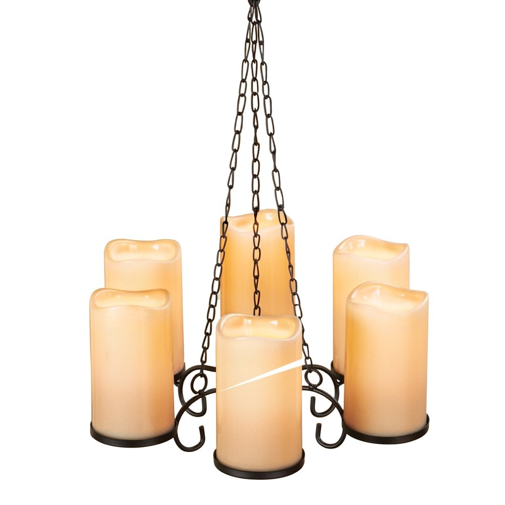 Amazon.com: Collections Etc LED Candle Chandelier: Home & Kitchen
