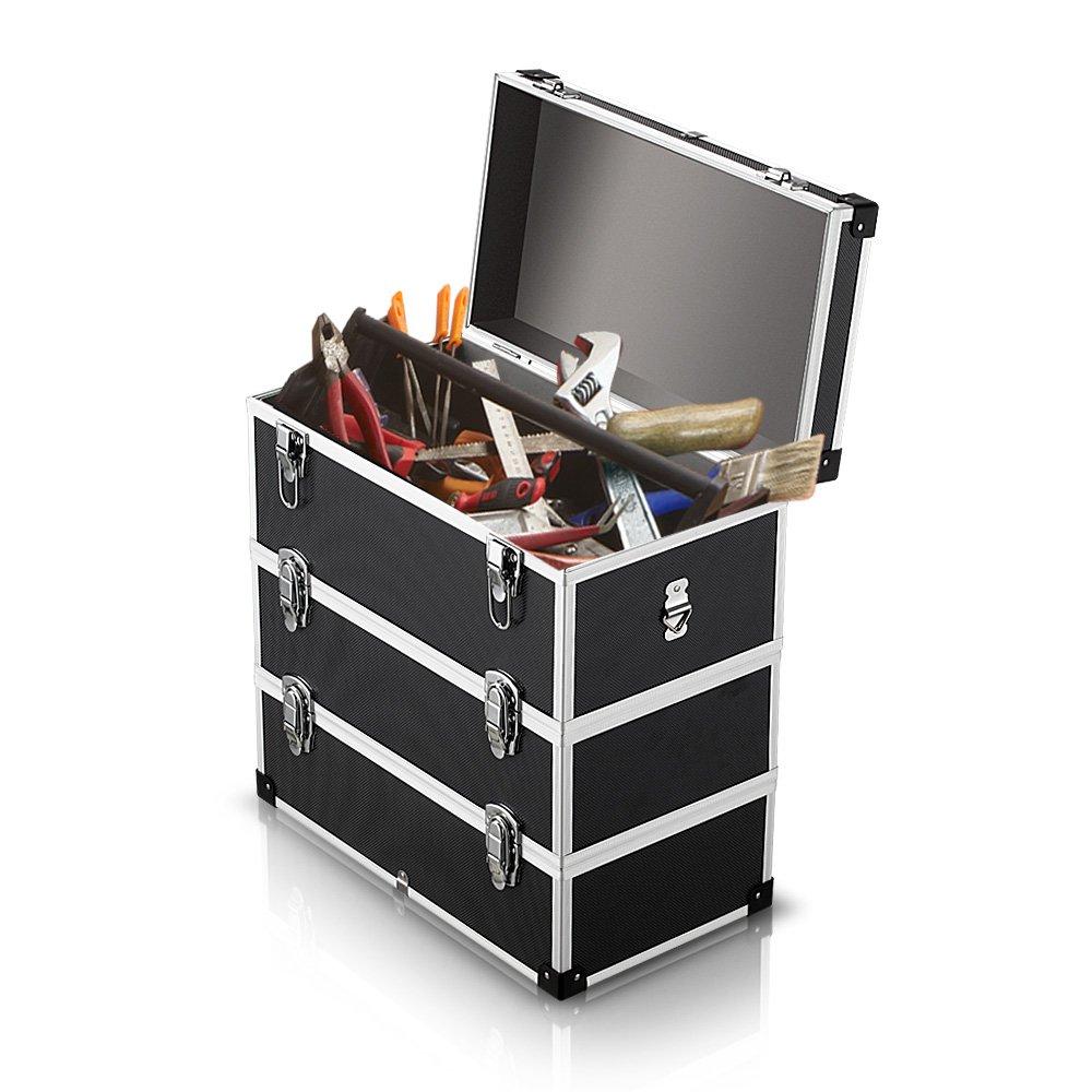 iKayaa Large Portable Hard Storage Box Carrying Case for Tools, Fishing Tackle 3 Layer by IKAYAA (Image #5)