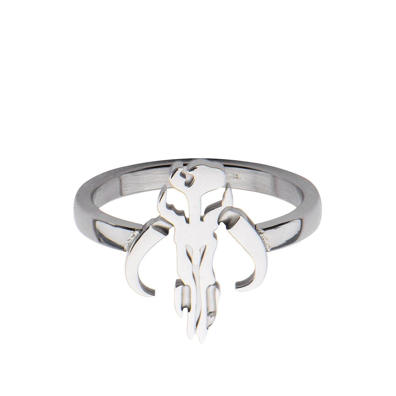 Animewild Star Wars Mandalorian Symbol Stainless Steel Ring