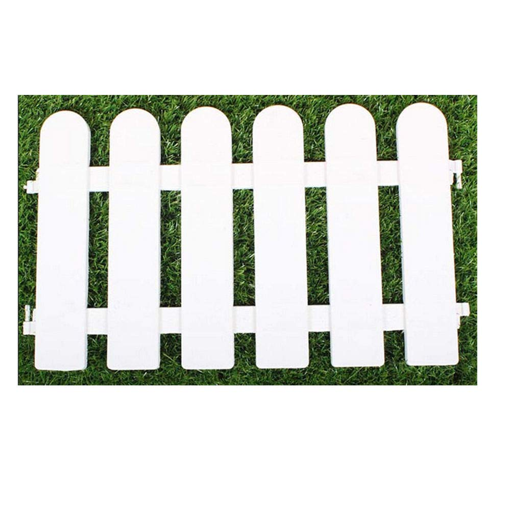 ieve 4 pcs Color blanco Plástico valla árbol de Navidad Surround 4 x longitudes 50 cm = 200 cm boda Party en miniatura decoración de casa jardín