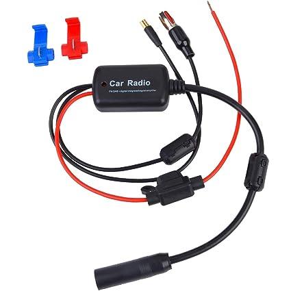 Eightwood DAB Antenne DAB FM//AM SMB Female DIN Male Digital Radio Antenne mit Signal Amplifier RG174 f/ür Blaupunkt Pioneer MVH-X580 DAB MEHRWEG