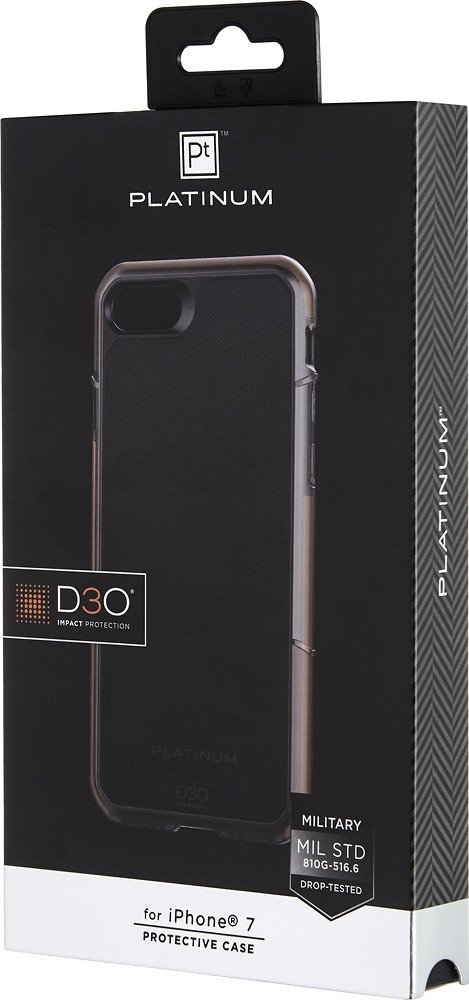 save off 257ac af4aa Platinum Series D3O Protective Case for Apple iPhone 7, Model: PT-MA7D3PB,  Black