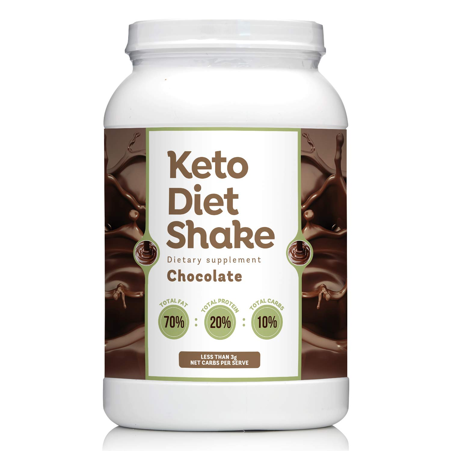 Keto Diet Shake with 70:20:10 Ratio Keeps You In Ketosis-Perfect For Low Carb High Fat Lifestyle - Less than 3g Net Carbs per Serve - Rich Chocolate Flavor - 27 Servings by Keto lifestyle
