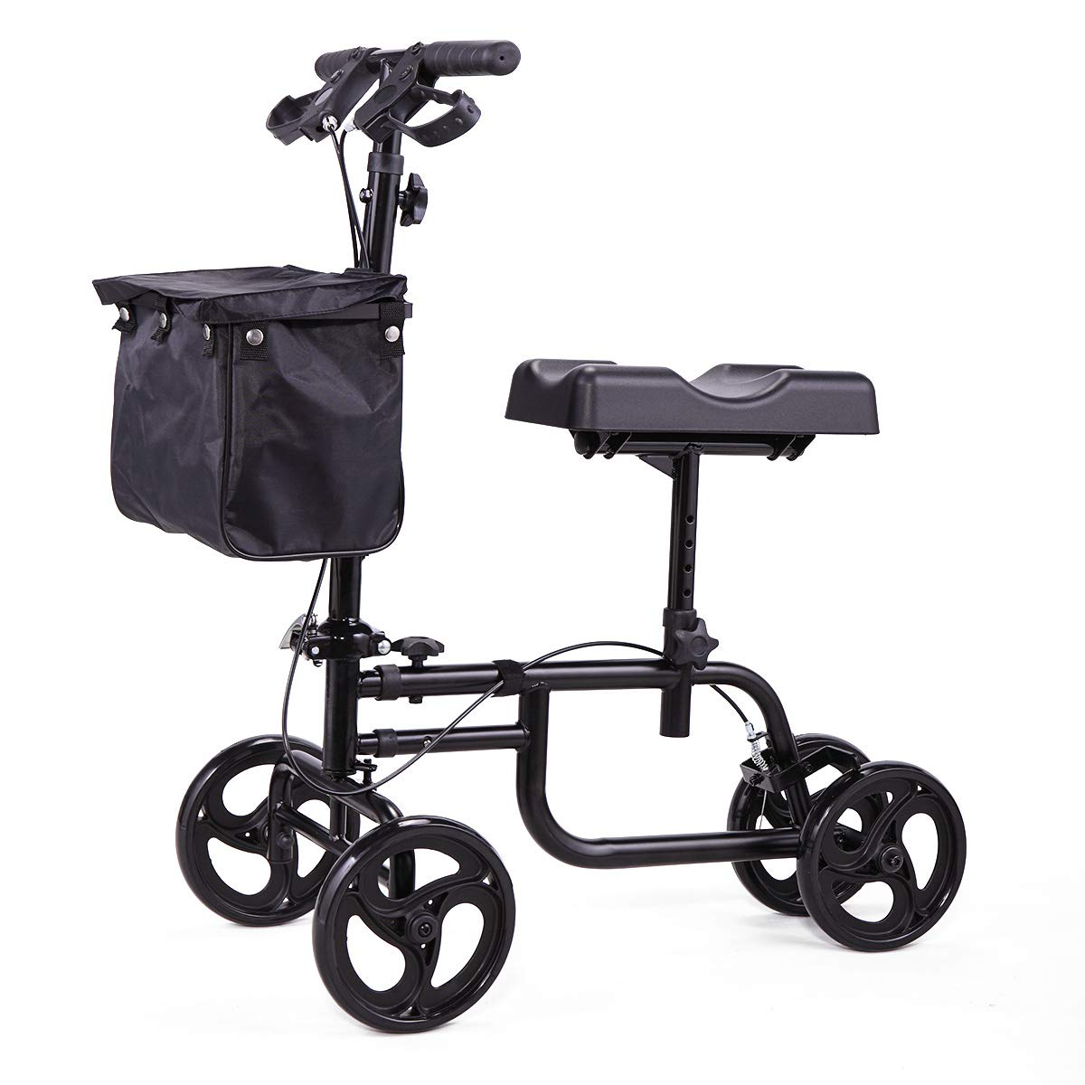 Sandinrayli Knee Scooter Walker Steerable Scooter Crutches Alternative for Disabled Knee Injured Foot by Sandinrayli