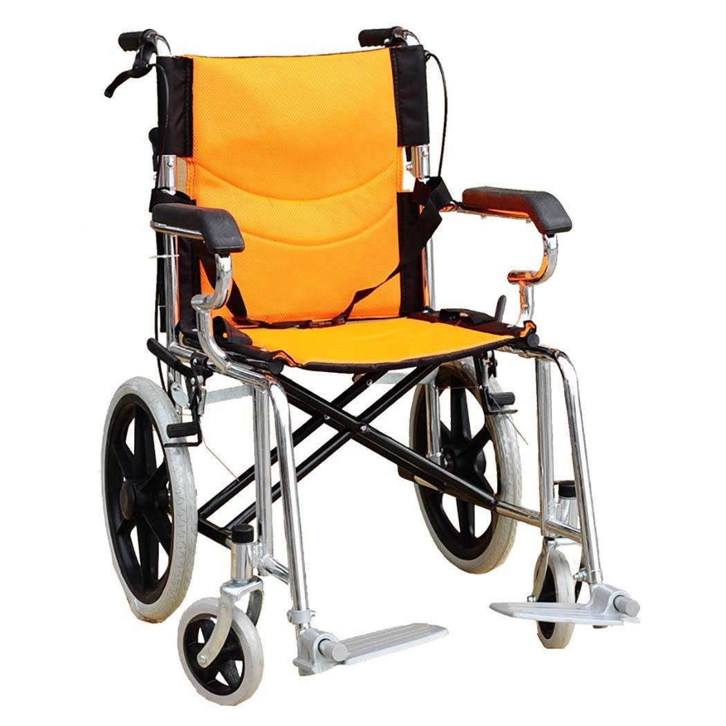 大人気定番商品 HSBAIS 22\ 大人用ワイドシート HSBAIS、高齢者および子供用スチールフレームチューブ用の軽量折りたたみ式医療輸送車いす,22