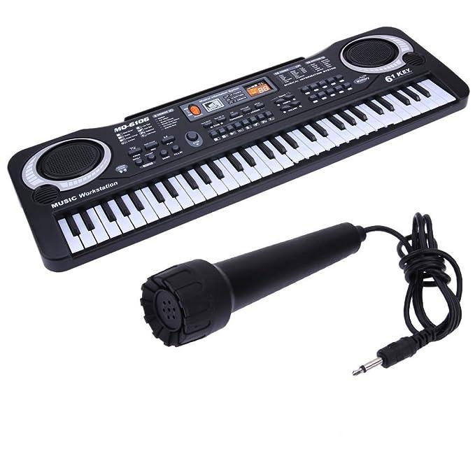 Cebbay-juguetes para niños Regalo del día de los niños Nuevo 61 Teclas Música Digital Teclado electrónico Teclado Clave Regalo Piano eléctrico: Amazon.es: ...