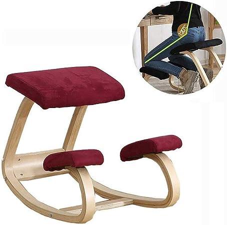 Sillas ergonómicas de rodillas Silla ergonómica Rodillas Yoga Profesional trasera de la ayuda el dolor de