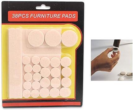 70 Floor Protectors Furniture Leg Felt Pads Self Adhesive Chair Sofa Table Round