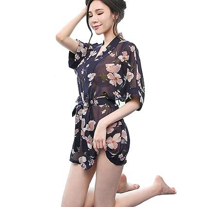 CJC Sexy Lencería Ropa de Dormir Ropa de Dormir Vestido de Noche Mujer Kimono Albornoces Cosplay