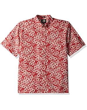 Men's Cotton Classic Fit Button Front Hawaiian Shirt