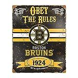 Party Animal NHL Boston Bruins Vintage Metal Sign