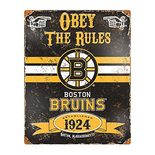 Party Animal NHL Embossed Metal Vintage Boston Bruins -