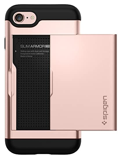 1891b8dde4 Amazon.com: Spigen Slim Armor CS Designed for Apple iPhone 8 Case (2017) /  Designed for iPhone 7 Case (2016) - Rose Gold: Cell Phones & Accessories