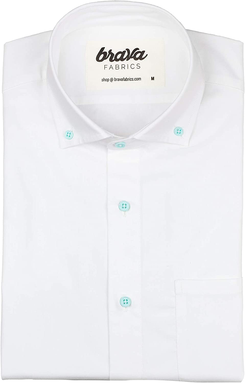 Brava Fabrics - Camisa Hombre Manga Larga - Camisa Blanca ...