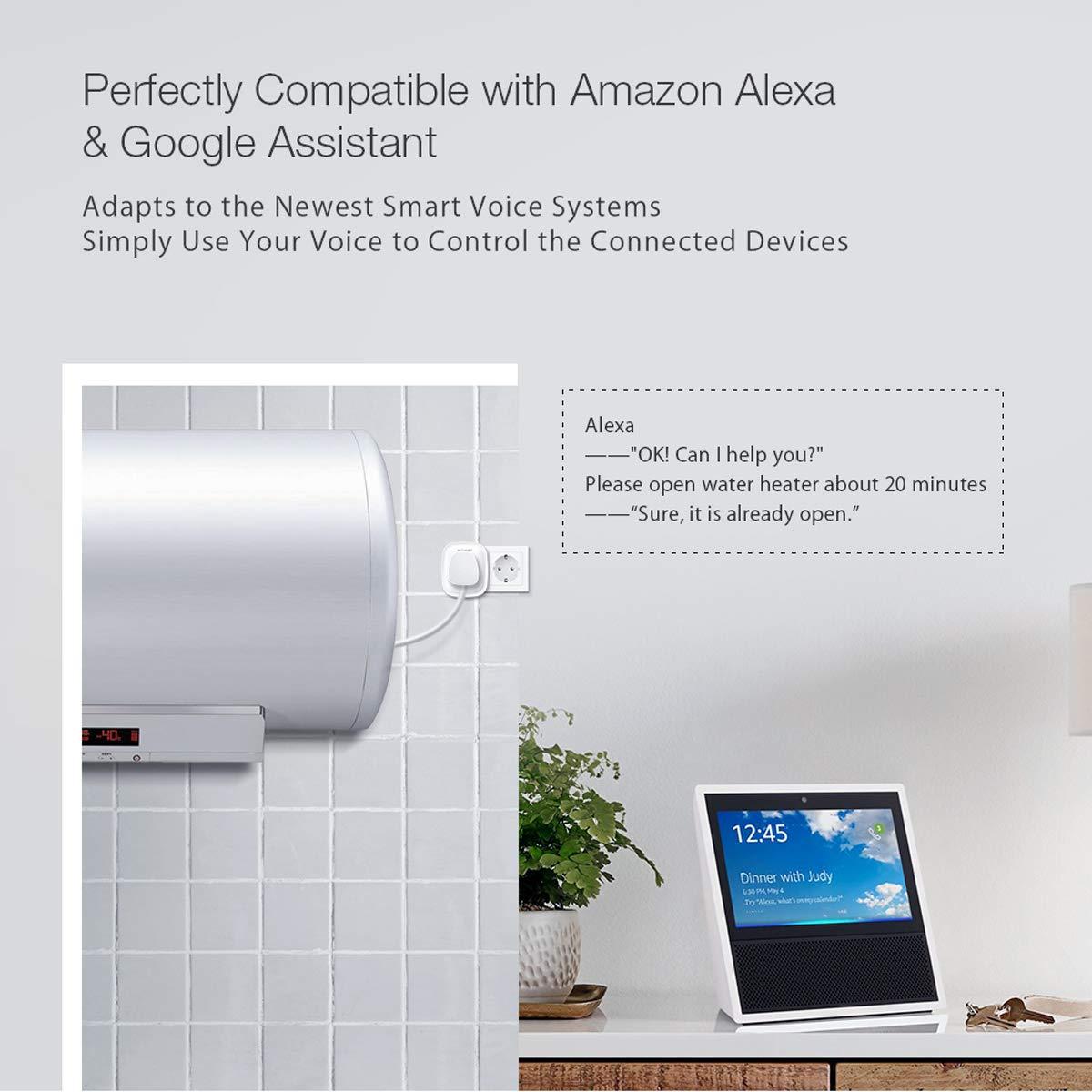 Wifi Steckdose, BlitzWolf Smart Stecker Intelligente WLAN Home Steckdose Kein Hub Erforderlich + App Steuerung mit Timing Funktion Kompatibel mit Amazon Alexa, Google Home und IFTTT [1 Pack]