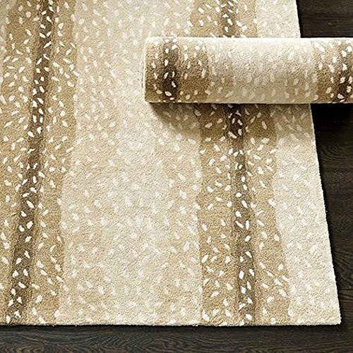 Ballard Designs 5 X 8 Antelope Rug Modern Style Handmade 100  Wool Usa Rug   Carpet