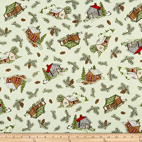 Maywood Studio Cozy Cabin & Pine Tossed Fabric, 1, for sale  Delivered anywhere in USA