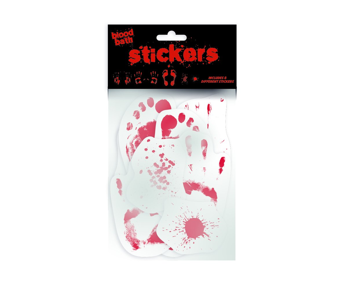Gift Republic Blood Bath Sticker Pack, Multi-Colour, 6-Piece GR410007