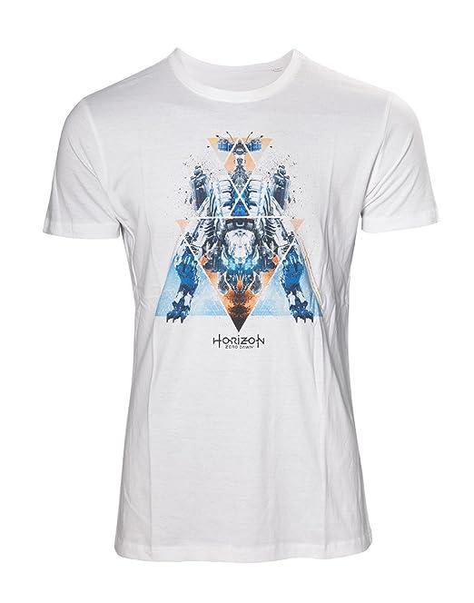 Horizon: Zero Dawn Dinosaur Mech Camiseta Blanco M: Amazon.es: Ropa y accesorios