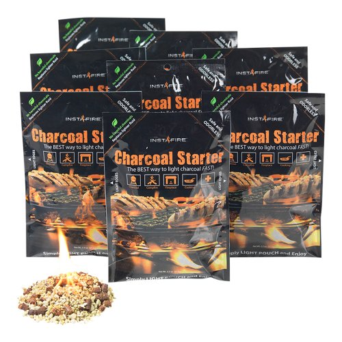 Instafire Charcoal Briquette Fire Starter Pouches For Grills  Smokers  More   Chemical Free  Awarded 2011 Innovative Product Of The Year 8 Pk
