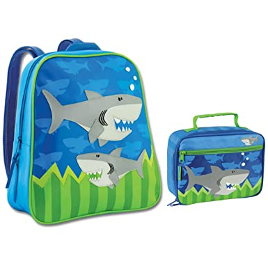 Amazon.com | Stephen Joseph Shark Backpack and Lunch Box Combo ...