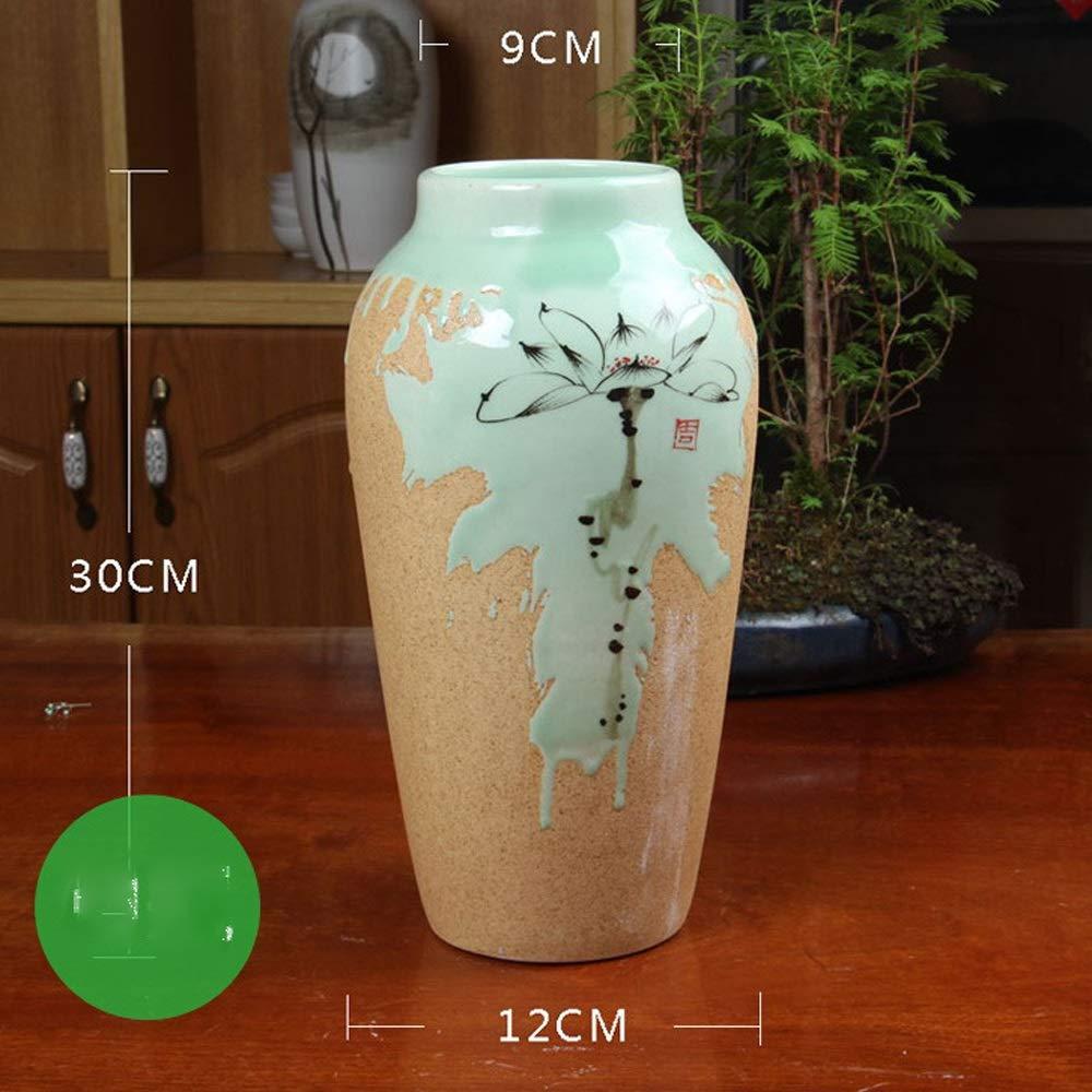 セラミック花瓶用花緑植物結婚式の植木鉢装飾ホームオフィスデスク花瓶花バスケットフロア花瓶 (サイズ さいず : M m) B07QSR3CLM  M m