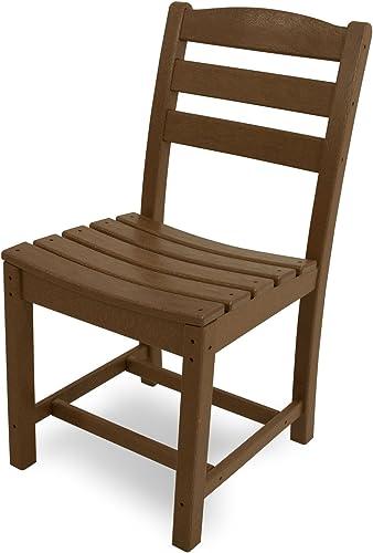 POLYWOOD TD100TE La Casa Caf Dining Side Chair, Teak