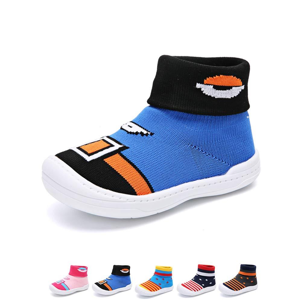 c56b00092345e YUHUAWYH Bébé Garçon Filles Chaud Antidérapant Chaussettes Bambin Premier  Marcheur Chaussures Chaussettes Pantoufle pour Âge 0-5 Ans  Amazon.fr   Chaussures ...