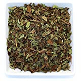 Tealyra – Thin Mint – Hojicha Japanese Roasted Green Tea with Spearmint Leaves – Natural Ingredients – Loose Leaf Tea – Very Low Caffeine – Blend – 4-ounce (110g) For Sale
