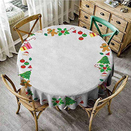 (Rank-T Fitted Round Tablecloth with Elastic 43