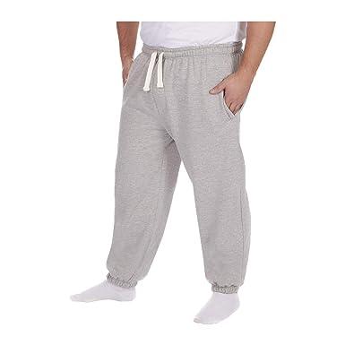 ff89dd1851d Men s Plus Size Jogging Bottoms Sweat Jog Pants Trouser Open Hem Size  3XL-6XL UK  Amazon.co.uk  Clothing