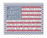 Stupell Home Décor United States Of America Flag Typography Art Wall Plaque, 11 x 0.5 x 15, Proudly Made in USA