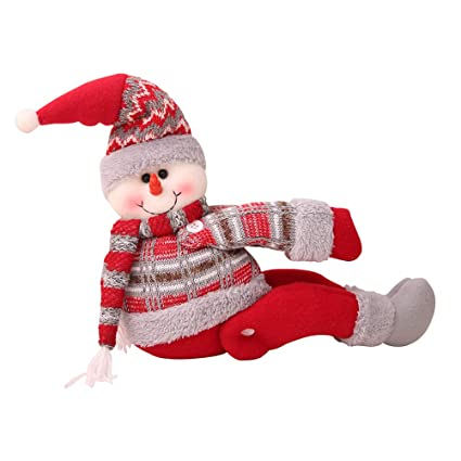 Buy Amosfun Christmas Curtain Buckle Snowman Doll Window Display Old Man Decor Birthday Gift For Friends Online At Low Prices In India