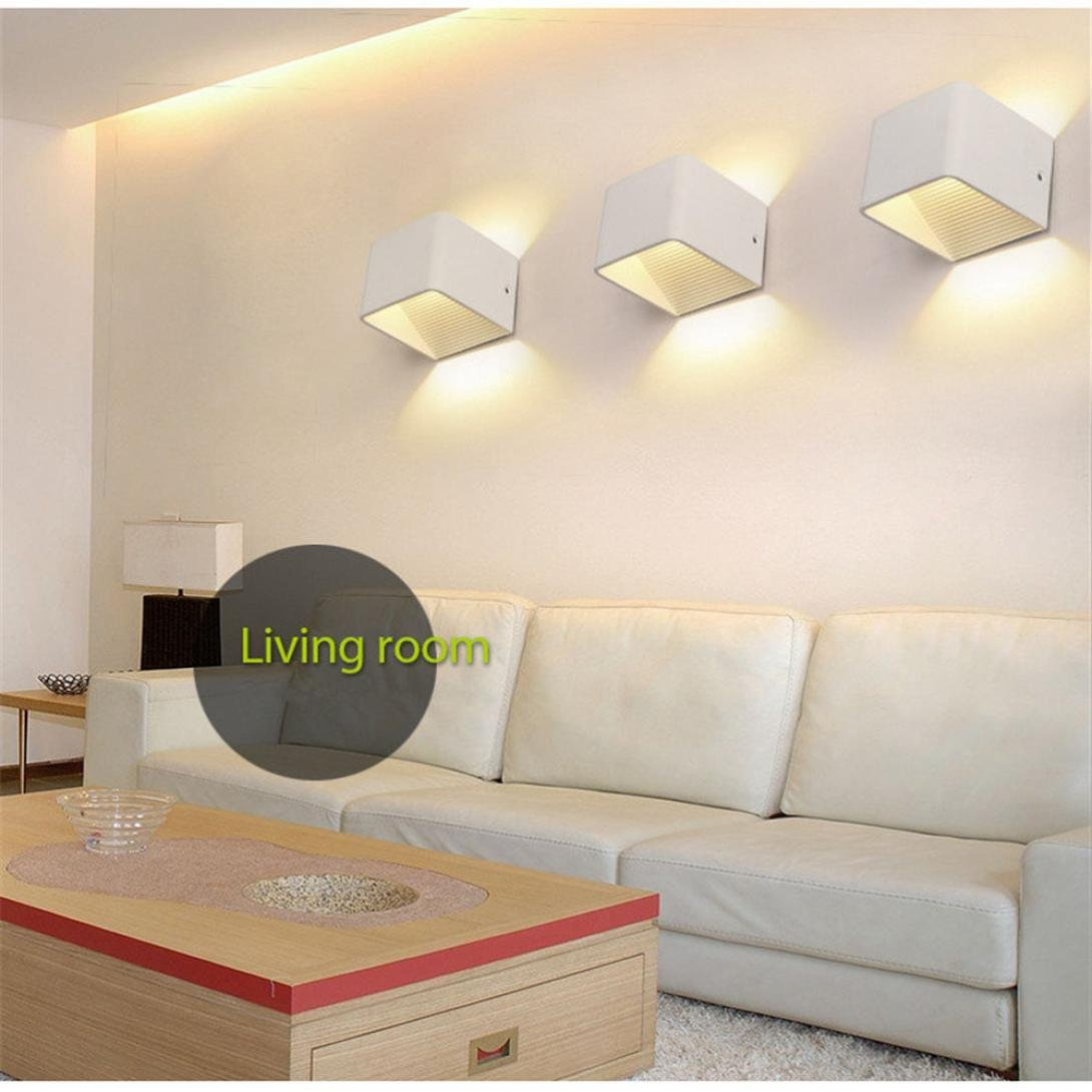 Iuhan Wall Sconces, Wall Lights LED 3W Aluminum Colorful RGB Light Wall Sconces Home Decoration (white) by Iuhan (Image #2)