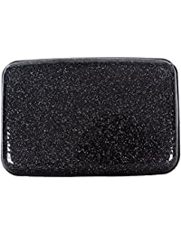 Glitter Bling Aluminum RFID Blocking Wallet Slim Hard Metal Credit Card Holder