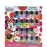 TownleyGirl Disney Minnie Mouse Nail Polish, Lip Balm, Lip Gloss & Hair Accessories (Minnie Mouse 18 Pack Nail Polish Set)