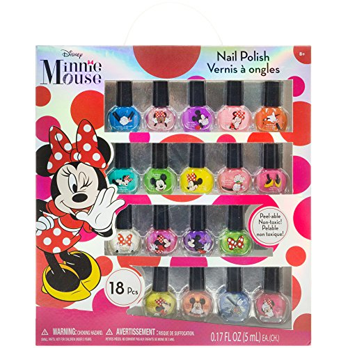 Hair Polish Nail - TownleyGirl Disney Minnie Mouse Nail Polish, Lip Balm, Lip Gloss & Hair Accessories (Minnie Mouse 18 Pack Nail Polish Set)