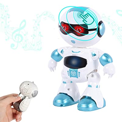WISHTIME Remote Control Smart Robot - Walking Talking Toy Robot with Touch Sensing Function ,Remote Toy for Kids 3+: Toys & Games