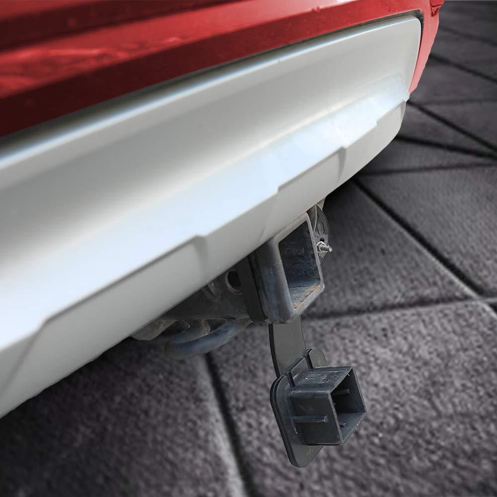 Trailer Hitch Tube Cover Plug Cap Insert,Receiver Rubber Fits 2 Inch Receivers Class 3 4 5 for Toyota Ford Jeep Chevrolet Nissan Dodge Ram Porsche Mercedes Benz Polaris Ranger ATV UTV Polaris