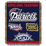 NFL Superbowl LI Champion New England Patriots Vintage Throw Blanket, NE Patriot Sports