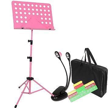 Soporte De Música Ligero, Altura Y Ángulo Ajustable Atril De Música De Aluminio Orquestal Atriles (Color : Style6): Amazon.es: Instrumentos musicales