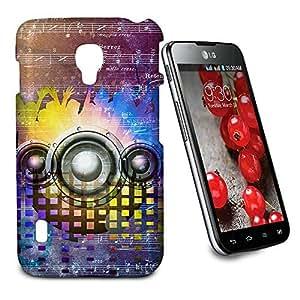 Phone Case For LG Optimus L7 II Dual P715 - Music DJ Trance Glossy Designer