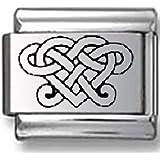 Celtic Heart Laser Italian Charm