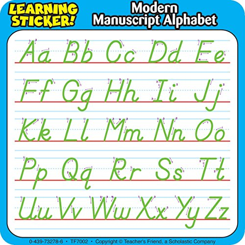Modern Manuscript Alphabet Learning - Stickers Learning Alphabet Manuscript