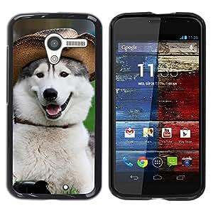 YiPhone /// Prima de resorte delgada de la cubierta del caso de Shell Armor - Alaskan Malamute Siberian Husky Funny - Motorola Moto X 1 1st GEN I XT1058 XT1053 XT1052 XT1056 XT1060 XT1055